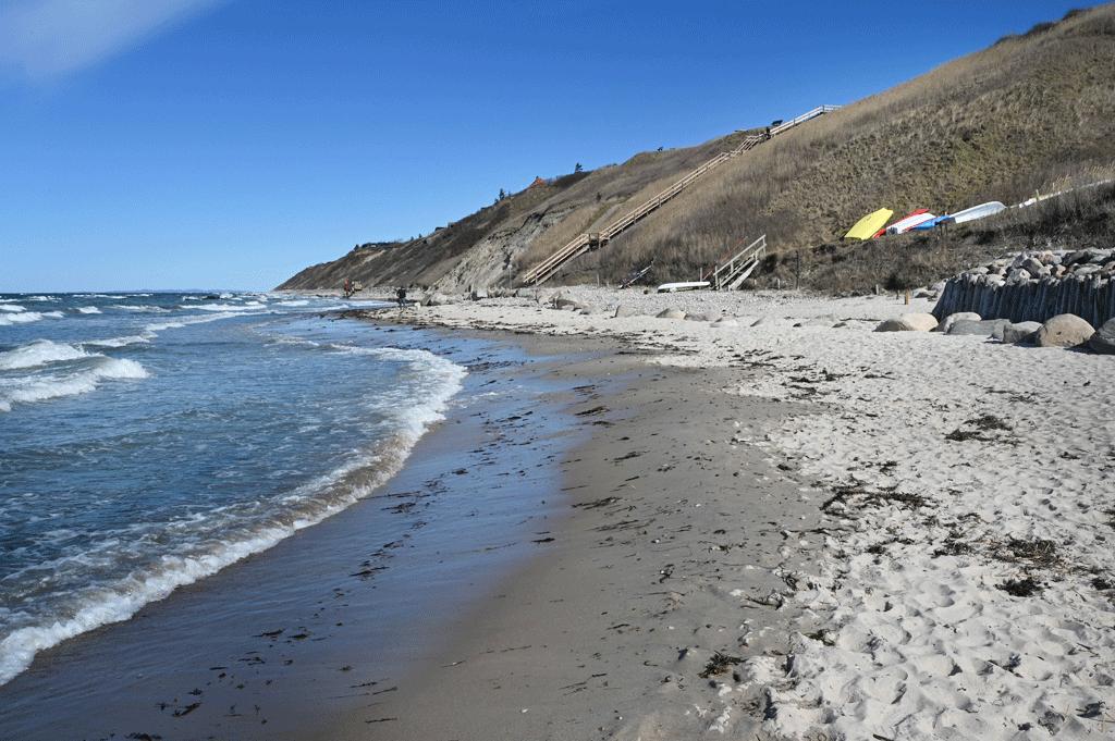 Trappen ved Vejlby Strand på Nordkysten